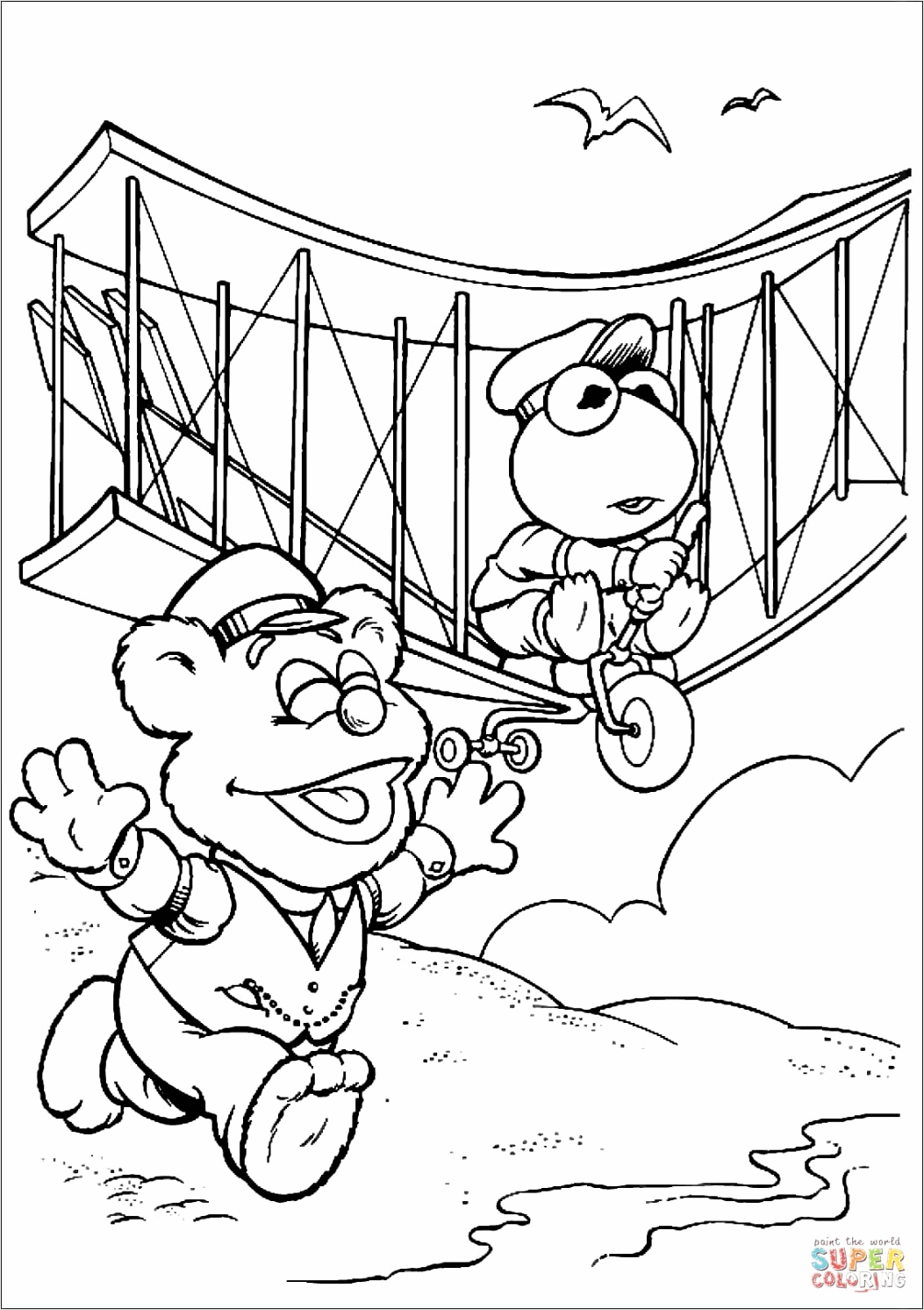 that baby is running coloring page wrtue