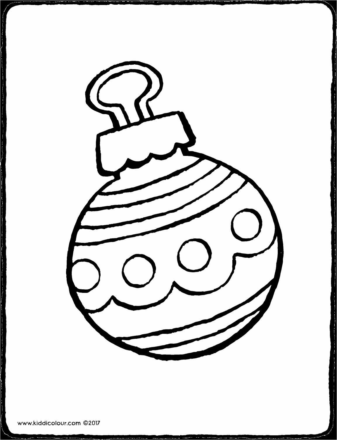 kerstbal kleurplaat kleurprent tekening 01V oituy