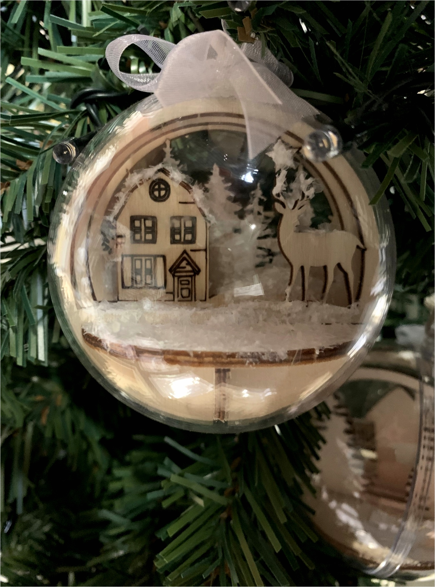 houten kerstbal ornament 01 kerstbal 80mm reppi