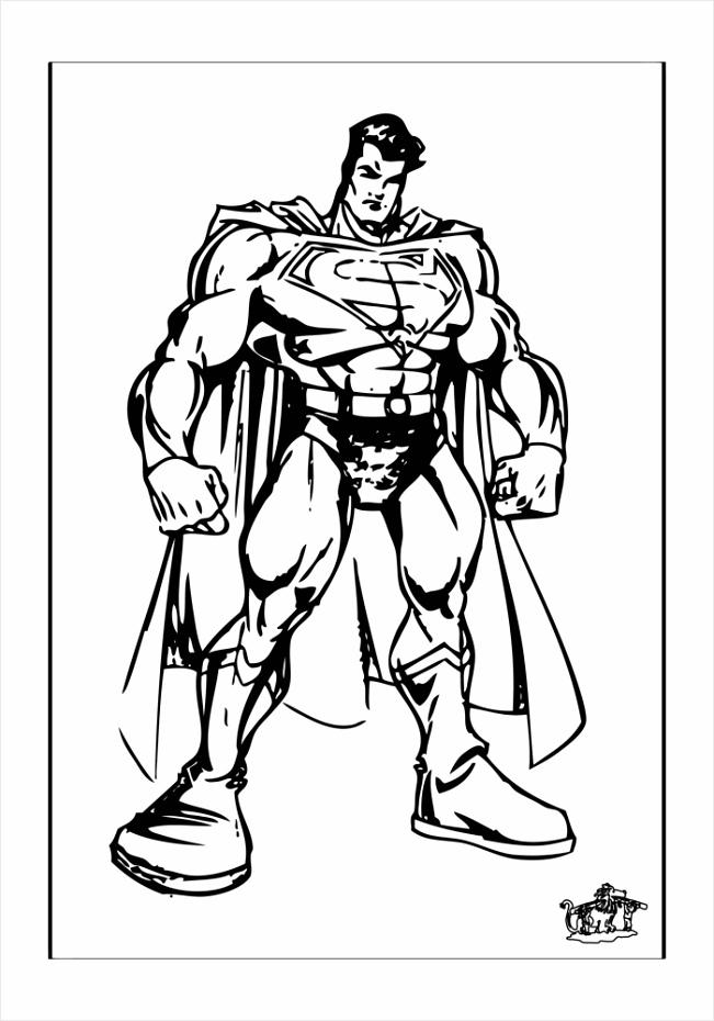 superman kleurplaat kleurplaten234
