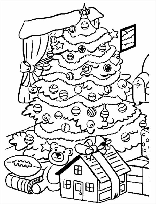kerst kleurplaat kerstmis boom kado wgwzo