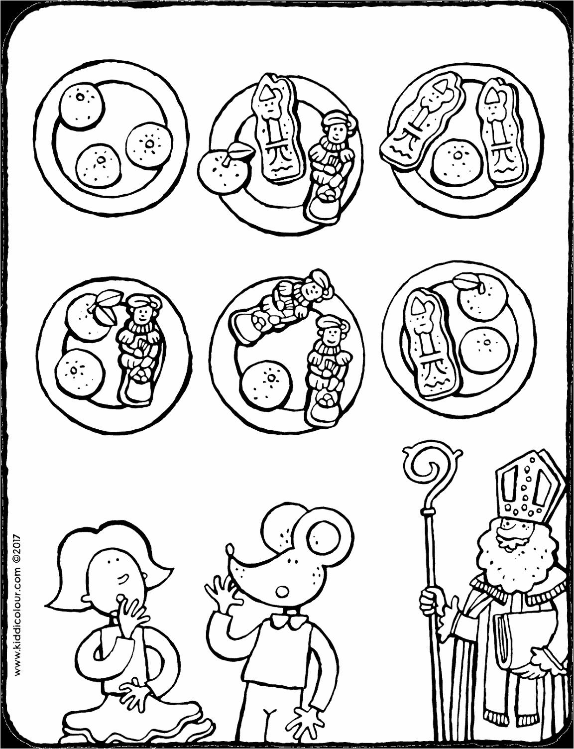 snoep van de Sint voor Emma en Lowie kleurplaat kleurprent tekening 01V utwei