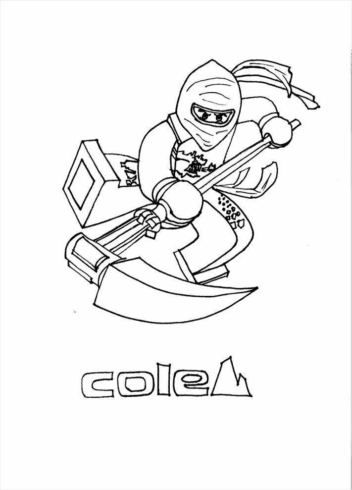 kleurplaat ninja go cole yrwte