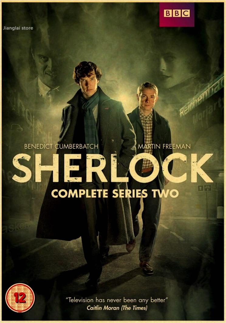 Sherlock Holmes Amerikaanse TV Series Woninginrichting decoratie Kraft Movie retro Poster Tekening core muurstickers wwior