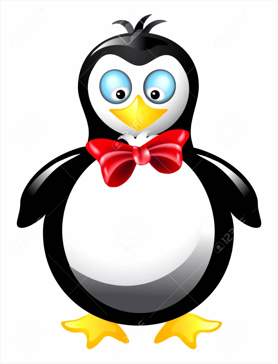 photo amusing pinguïn met rode strik ukwar