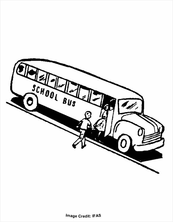 Bus Kleurplaat - Kleurplaten234