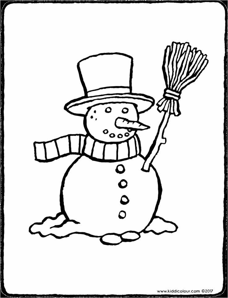 sneeuwman kleurplaat kleurprent tekening 02V 794x1024 ttaua