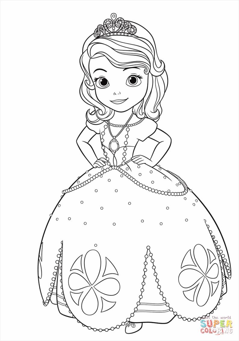 princess sofia 4 coloring page aoaft