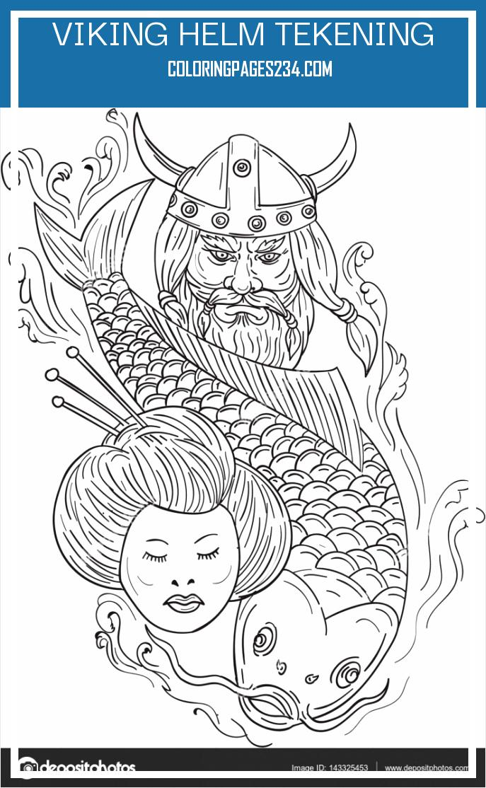 Cool dragon heads viking helm tekening, source:depositphotos.com