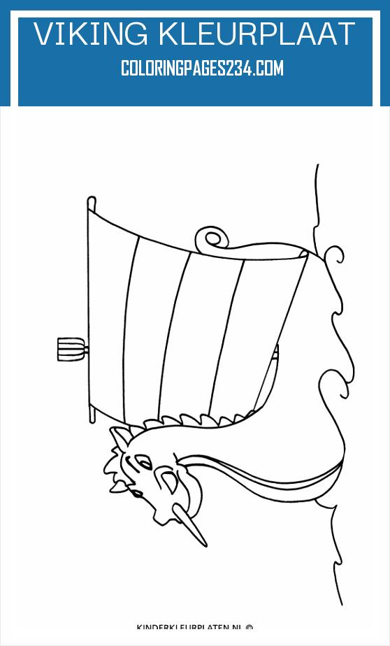 Kleurplaat boot vikingschip VERVOER viking kleurplaat, source:kinderkleurplaten.nl