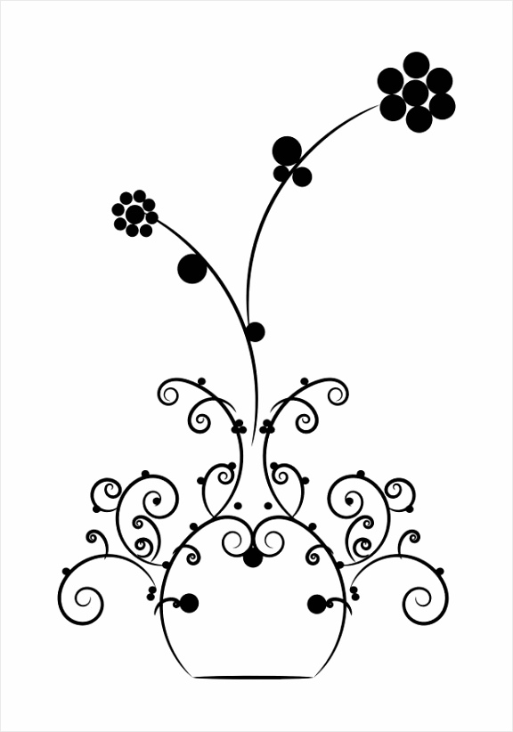 kleurplaat bloemen in vaas dl owaey