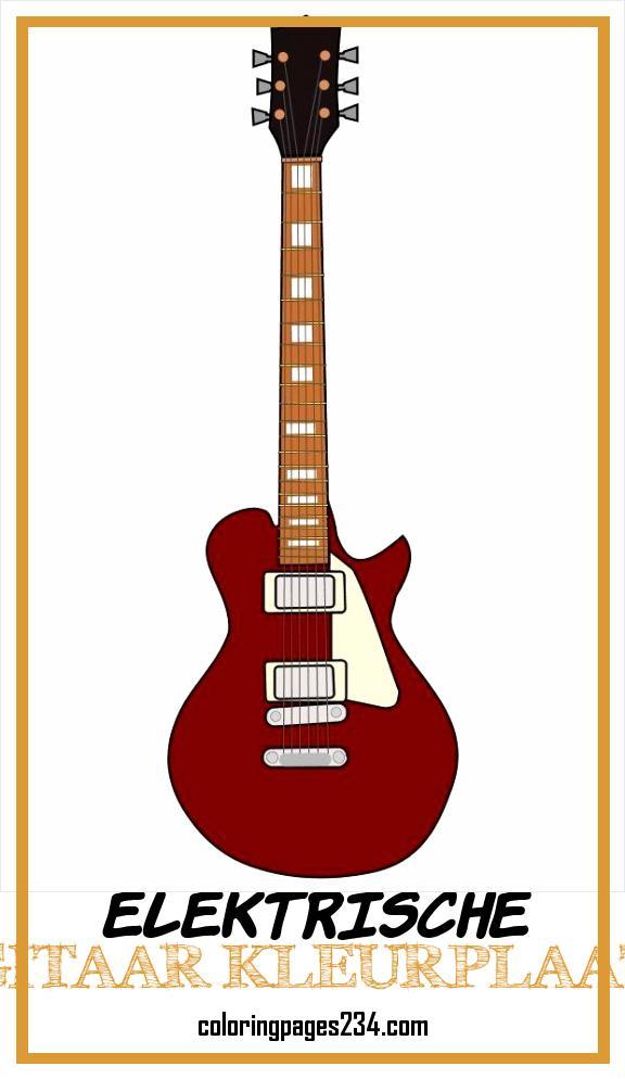 elektrische gitaar kleurplaat kleurplaten234
