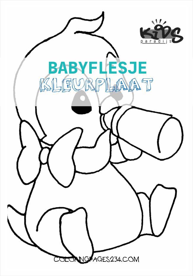 babyflesje kleurplaat kleurplaten234
