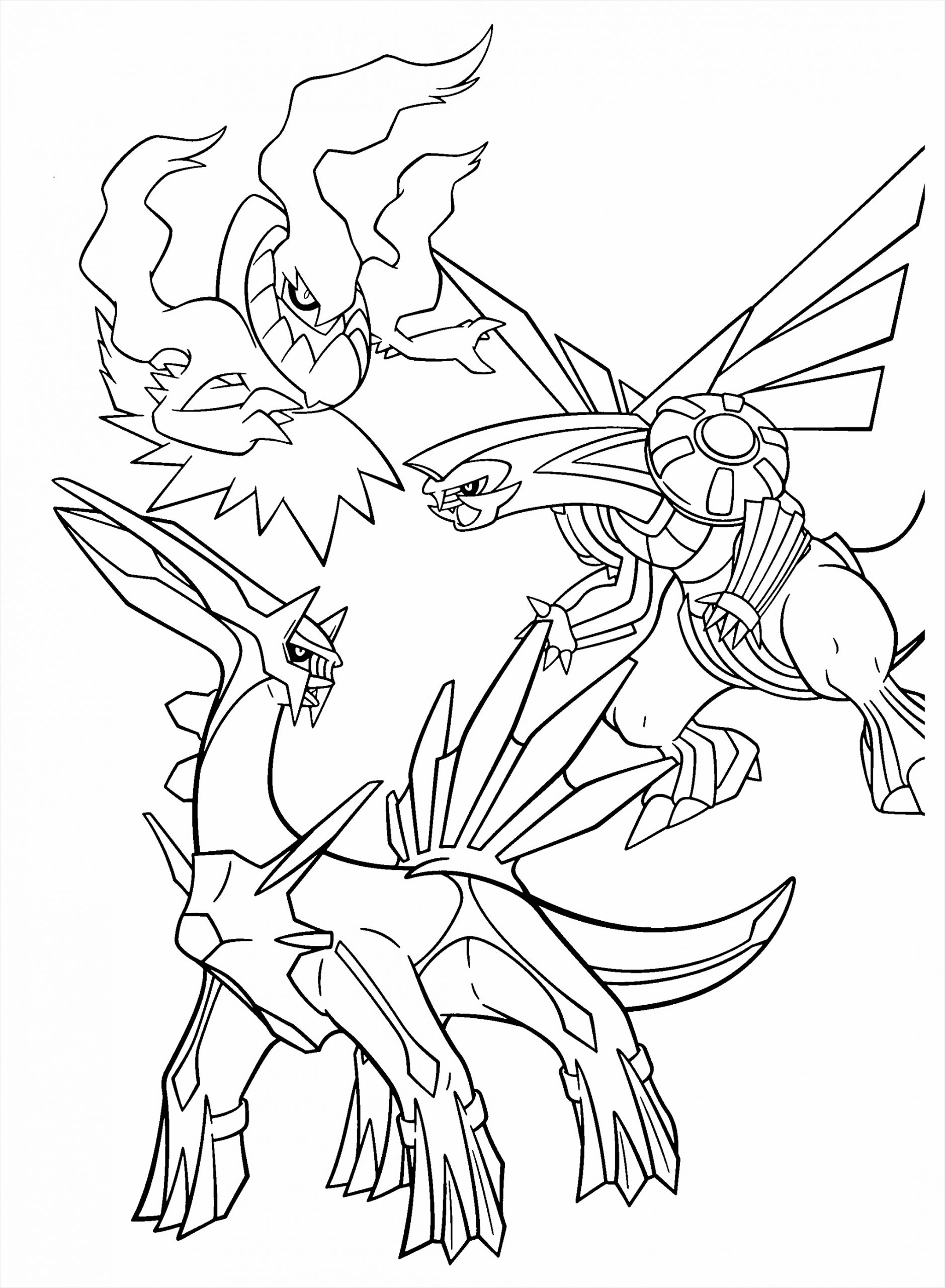 Pokemon Dialga And Palkia Coloring Pages Best Coloring