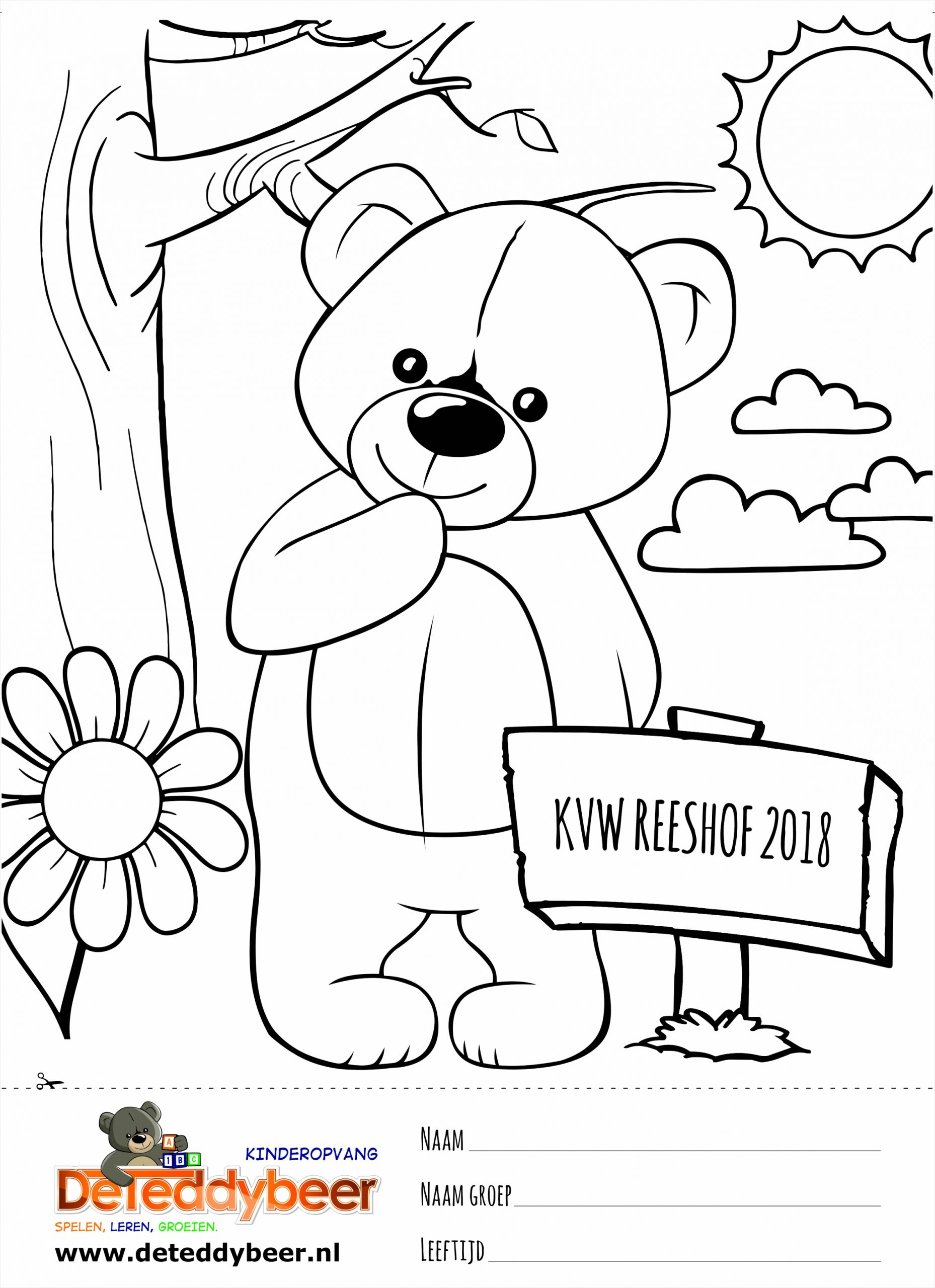 Teddybeer Kleurplaat preview irwop