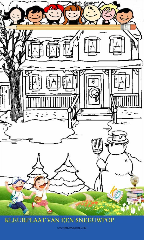 Zcesxv 97721 Evt7uvmfdlpuyrulg Kleurplaat Van Een Sneeuwpop Kids N Fun 762604
