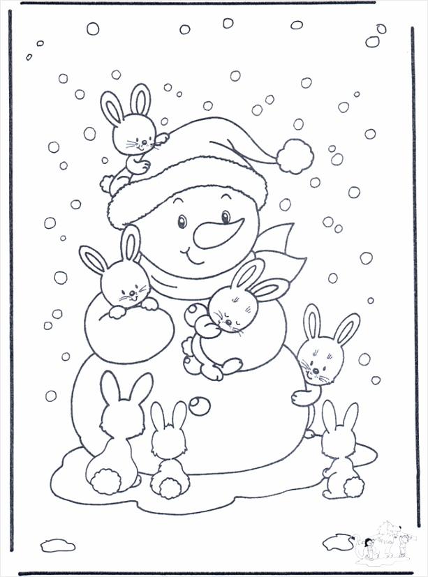 sneeuwpop met konijntjes b2230 ruaip