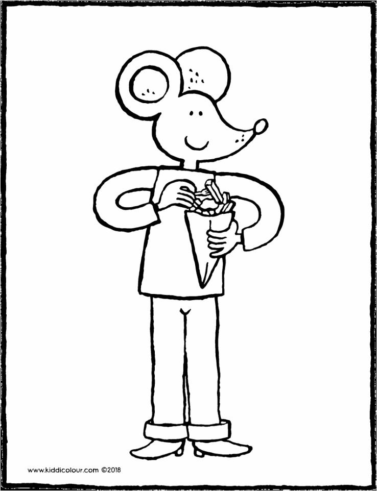Lowie eet petat frietjes kleurplaat kleurprent tekening 01V 794x1024 ariti