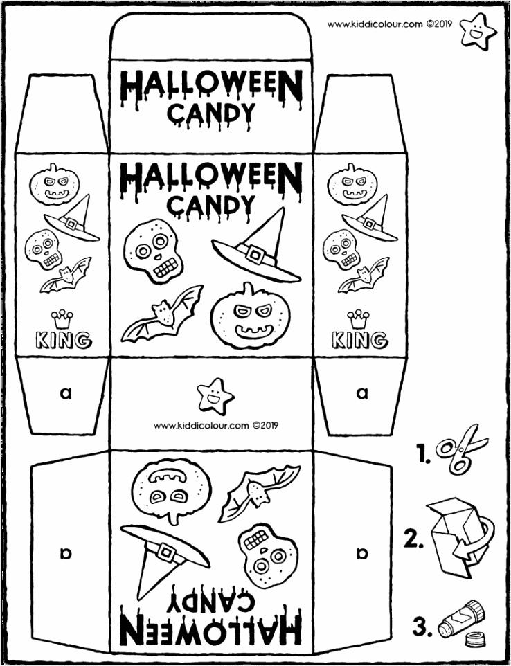 winkelverpakking halloween candy knutselen kleurplaat kleurprent tekening 01V 794x1024 wrwbi
