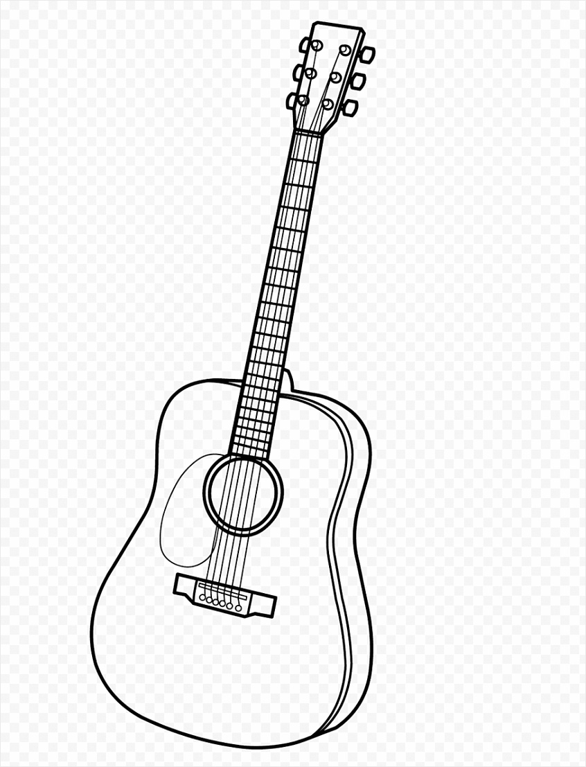 electric guitar music coloring book acoustic guitar electric guitar png clip art oiiir