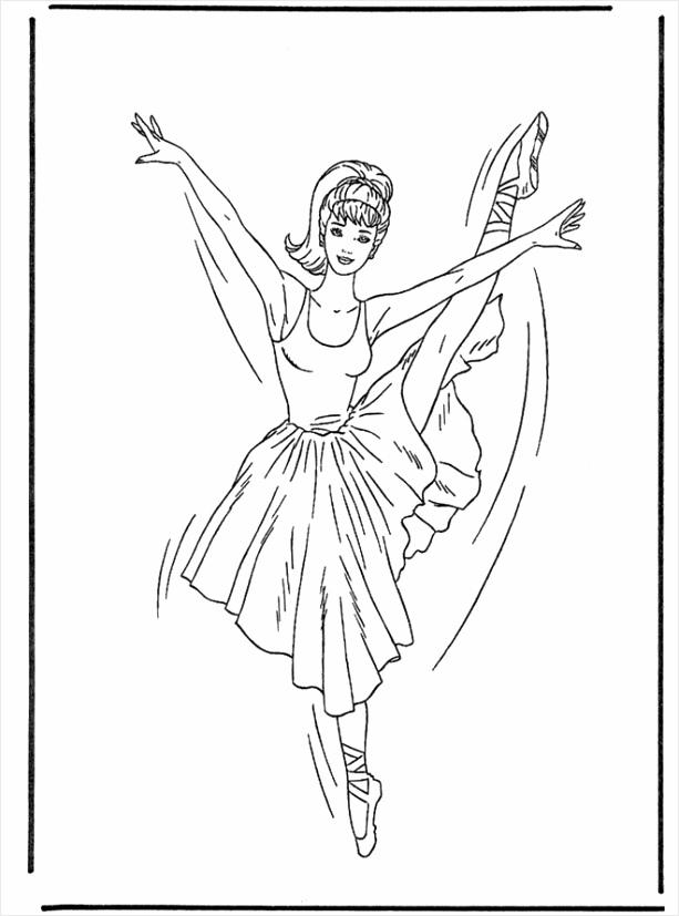 kleurplaat ballerina coloringpages234