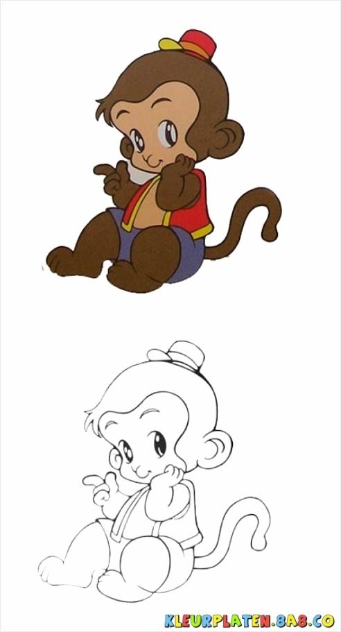 tekeningen apen kleurplaten234 kleurplaten234