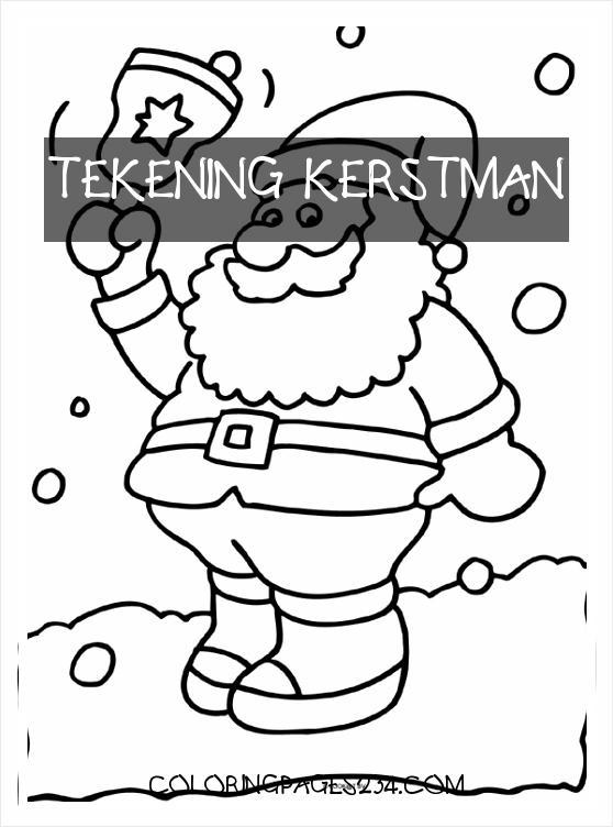 tekening kerstman kleurplaten234 kleurplaten234
