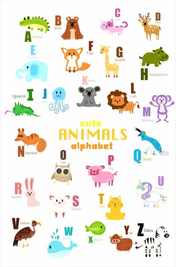 set van schattige ren alfabet 32 ouuyn