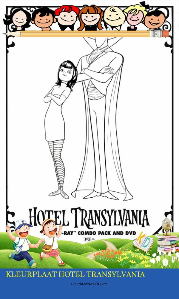 kleurplaat hotel transylvania kleurplaten234