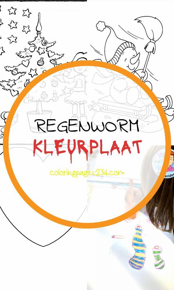 regenworm kleurplaat kleurplaten234