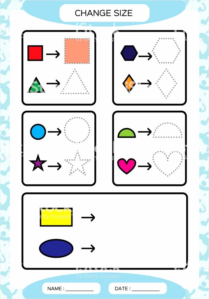 grootte wijzigen verschillende vorm maten klein groot basis vormen leren kleur gm etyol