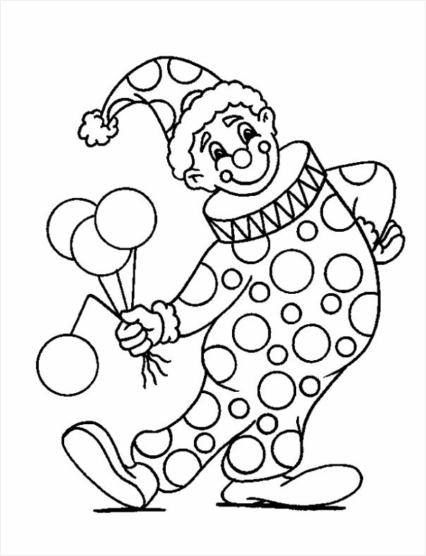 kleurplaat carnaval carnaval clown rotoo