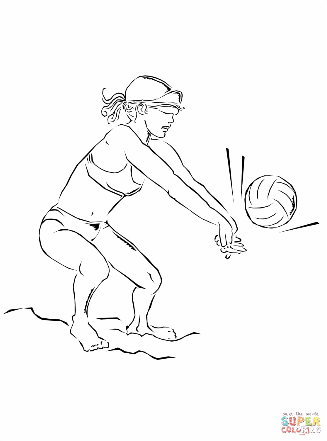 playing beach volleyball coloring page ryiot