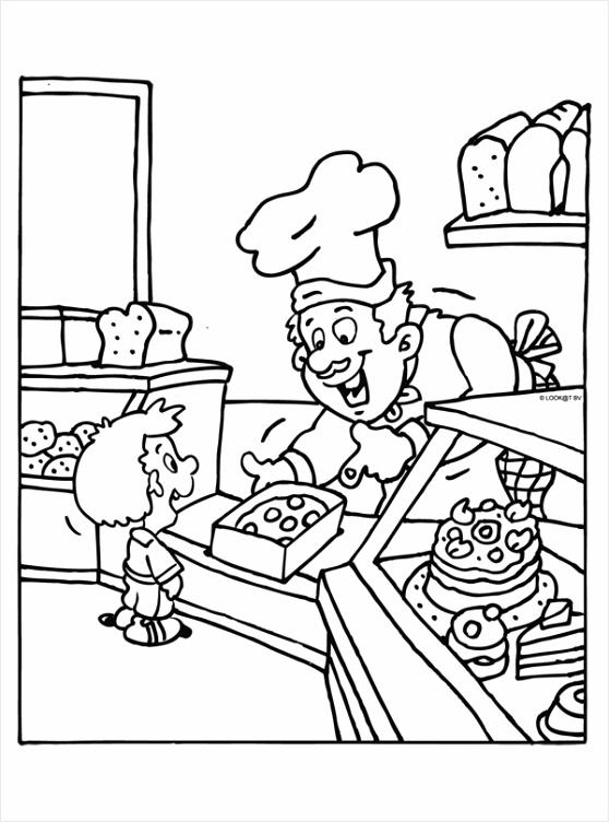 kleurplaat taart met kaarsjes kleurplaten234