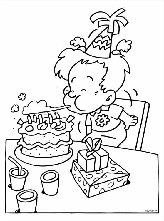 kleurplaat taart coloringpages234