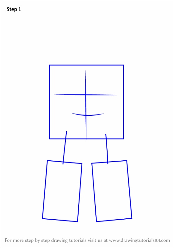 how to draw Roy from Robocar Poli step 1 wbyti