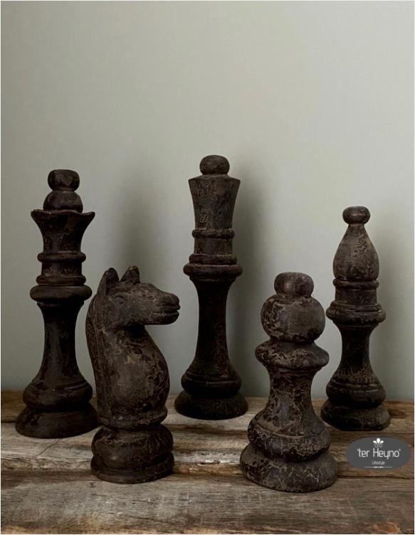 houten schaakset 5 delig iyaot