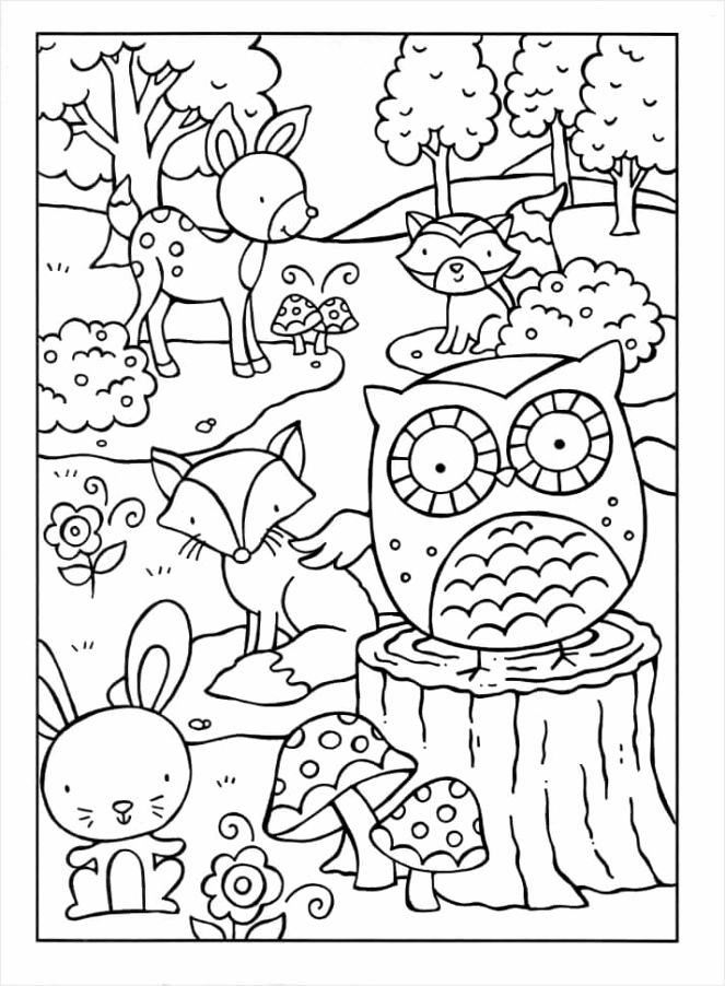 woodland creatures coloring pages 1 eiito