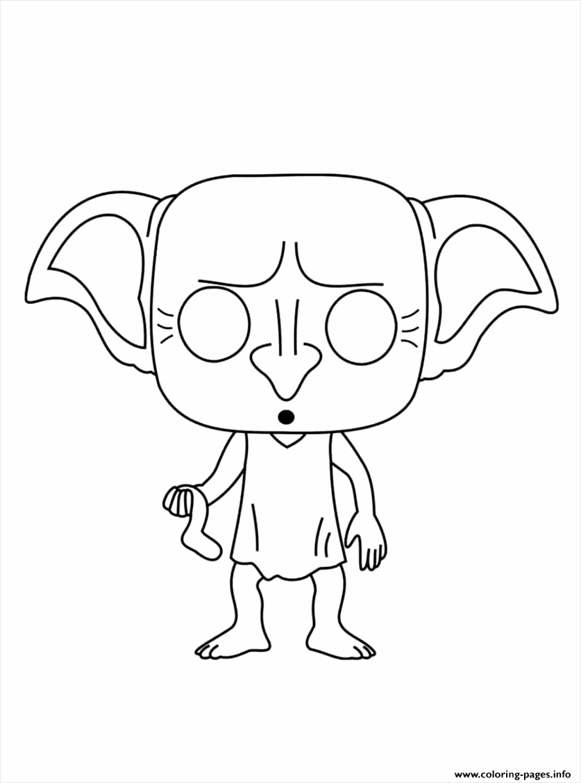 ac83b59b5d46ff c3ea104c516f dobby is a house elf in the harry potter coloring pages printable 900 1200 rpdio
