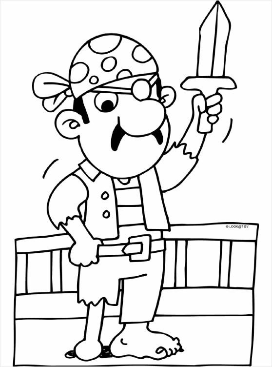 piraat houten been kleurplaten234