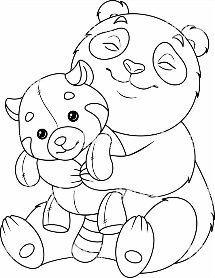 Pandabeer Kleurplaat Printen Kleurplaat Panda Kleurplaten234 Kleurplaten234