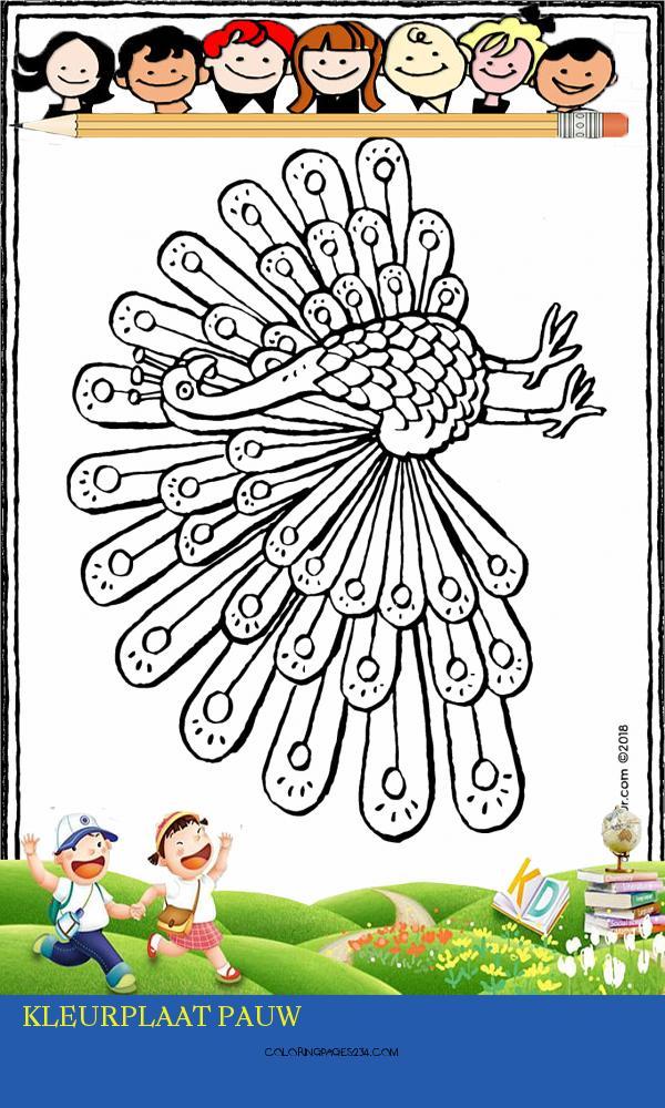 kleurplaat pauw kleurplaten234