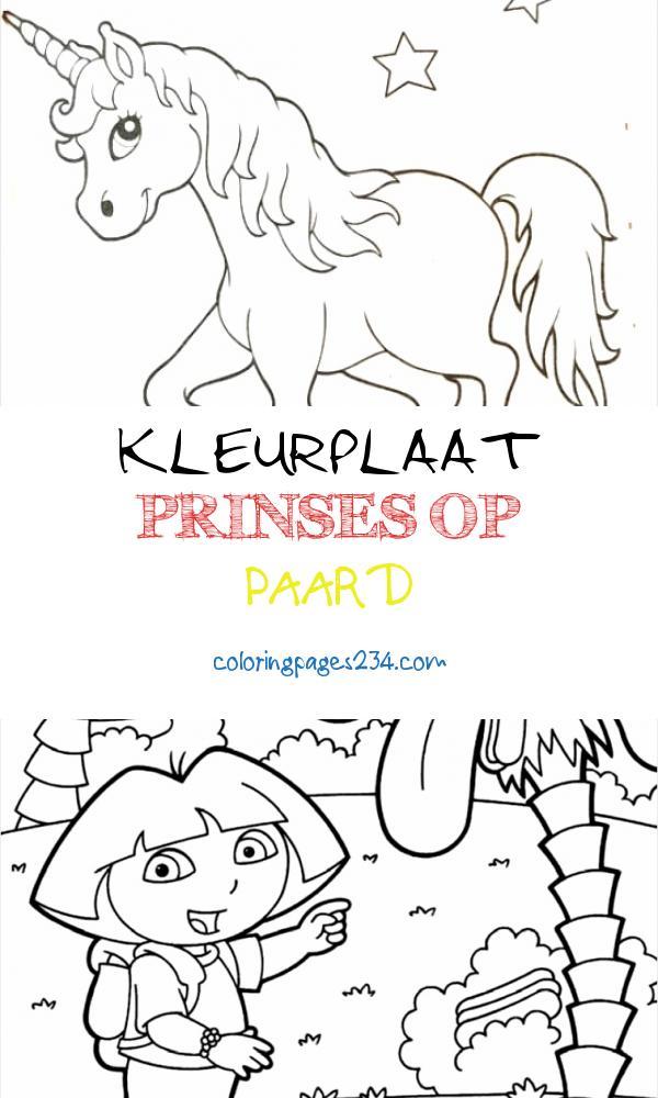 kleurplaat prinses op paard kleurplaten234 kleurplaten234