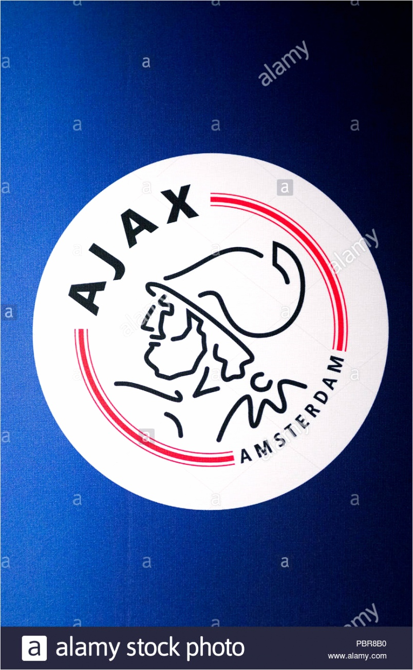 amsterdam netherlands june 2 2015 ajax logo amsterdam arena stadium the largest stadium in netherlands the home stadium for the afc ajax and th PBR8B0 pzizo