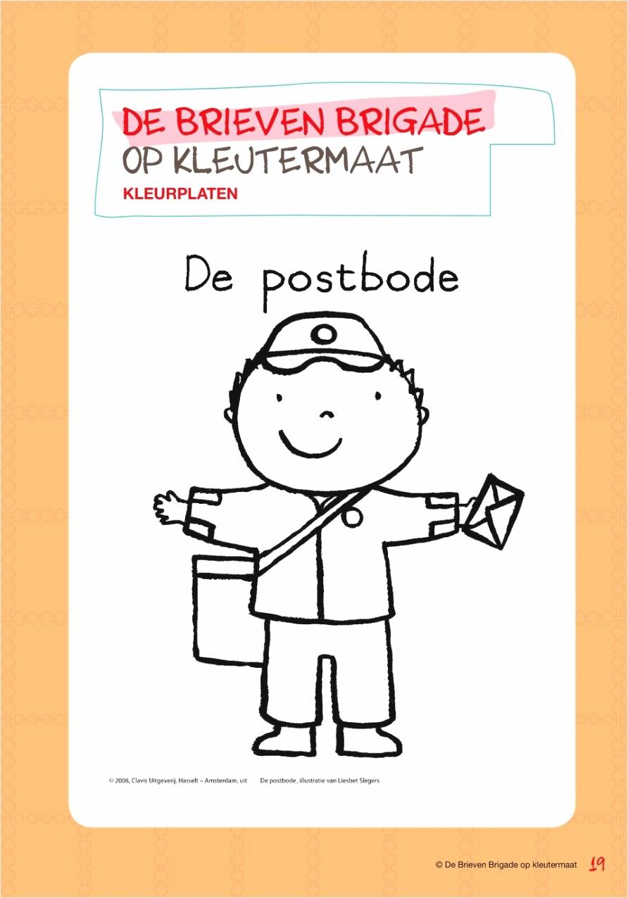 tekening postbode kleurplaten234 kleurplaten234