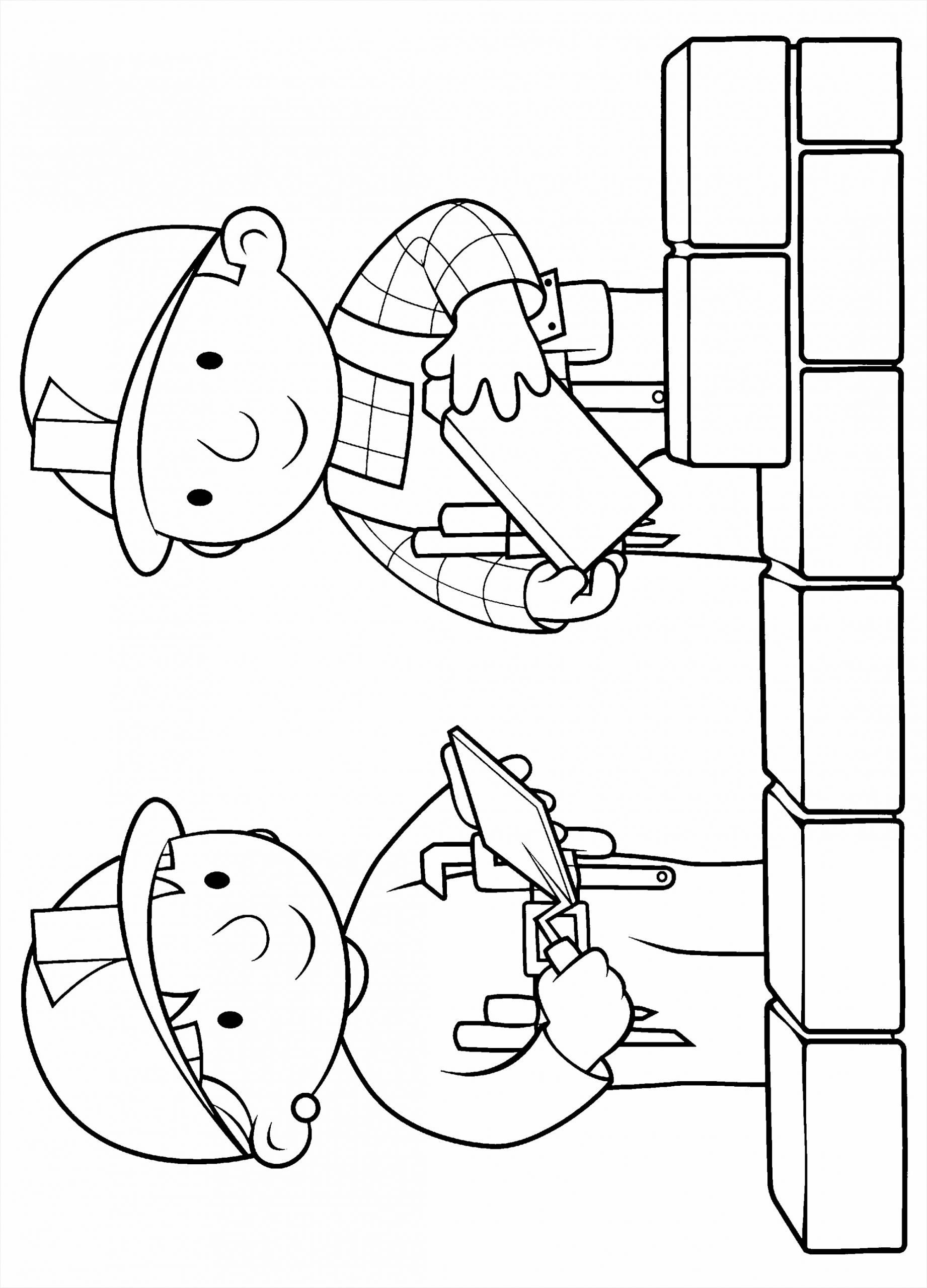 coloring pages bob the builder clipart trwry
