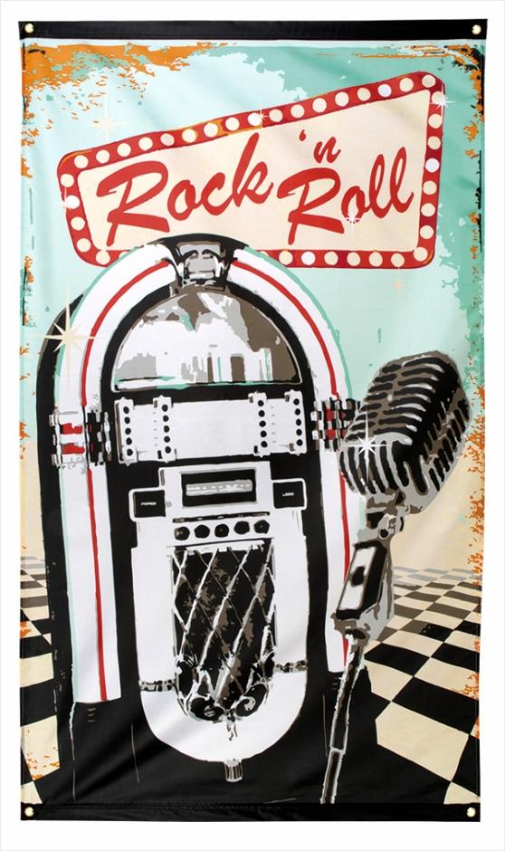 jaren 50 vlag rock n roll 190x90cm eboau