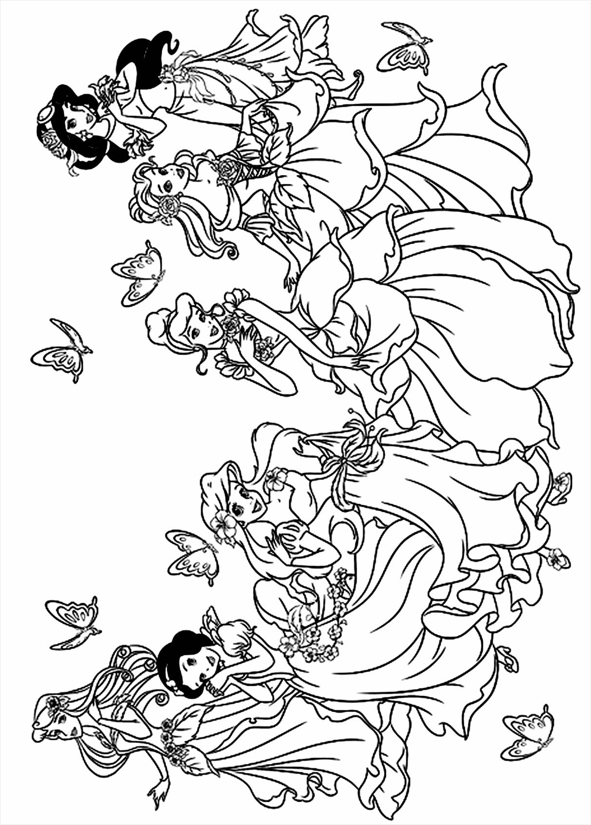 kleurplaat disney prinsessen kleurplaten234