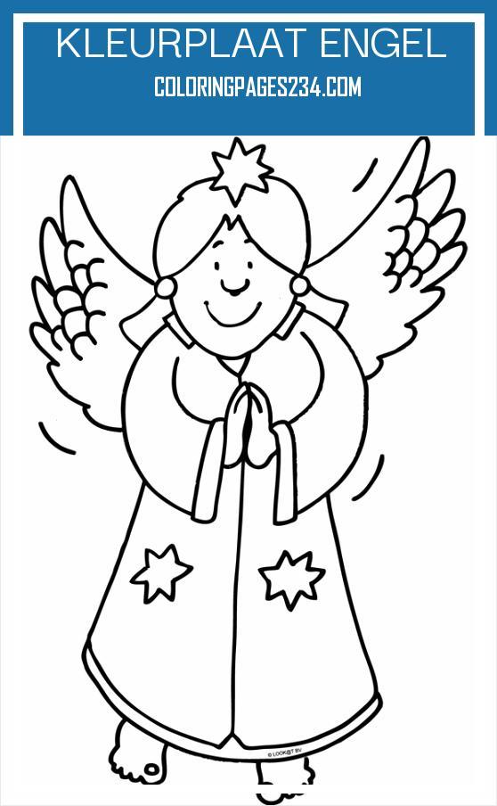 kleurplaat engel kleurplaten234