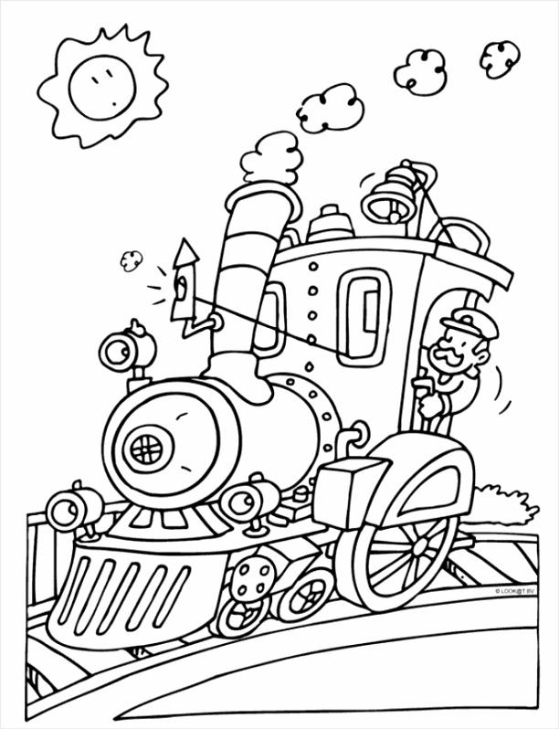 tekening trein kleurplaten234
